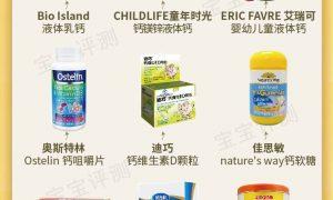 9款宝宝补钙产品对比:乳钙、液体钙更好吗?